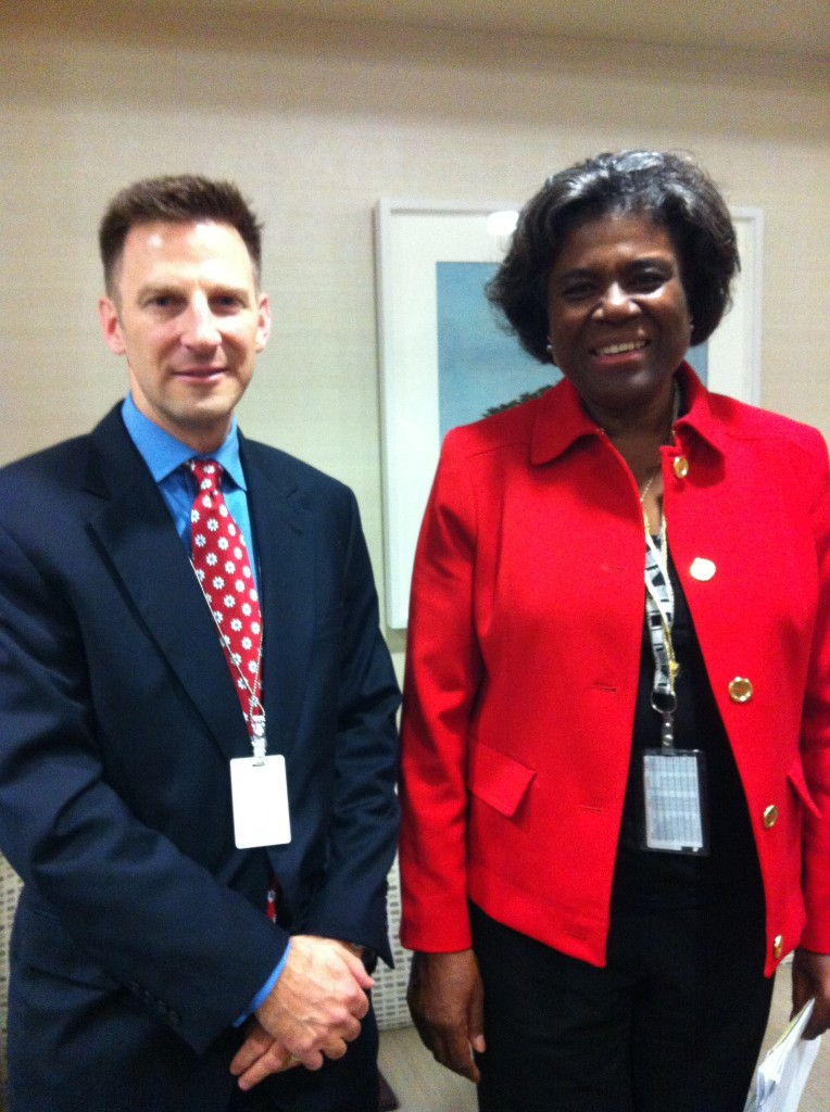 Meeting with Assistant Secretary of State for African Affairs, Linda Thomas-Greenfield, in October 2013, to discuss US policy on human rights in Africa.
