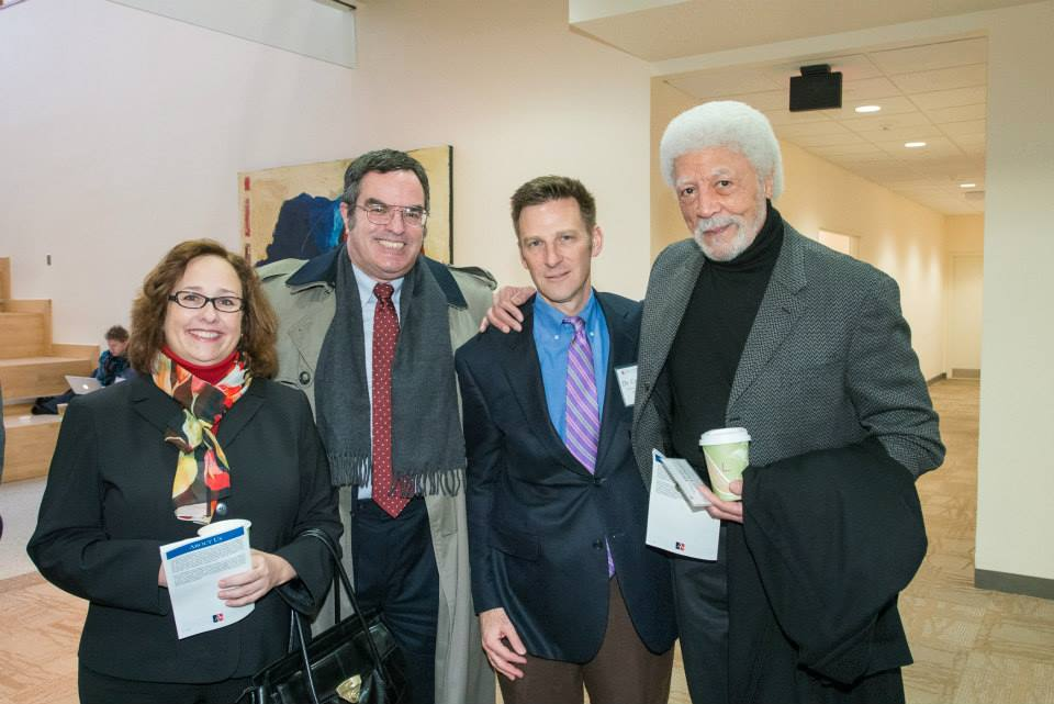 Celebrating Nelson Mandel's life, at an American University - CRS event, with U.S. Rep. Ron Dellums (ret.), the author of the anti-Apartheid Sanctions Act. (with colleagues Tamar Gutner and Christian J. Maisch to my right)