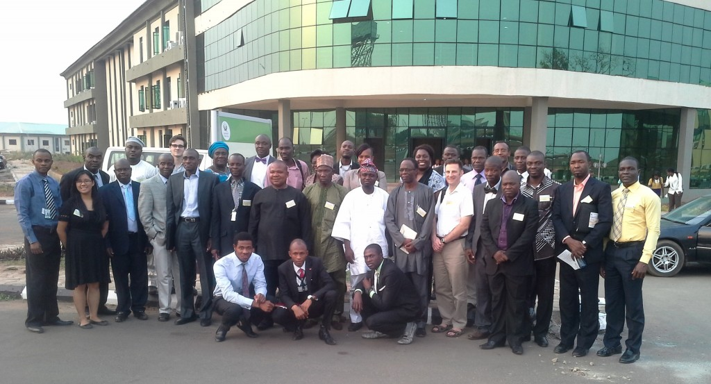 "Participants in the workshop on ""African State Legislatures"" at Landmark University (Nigeria) in January 2014"