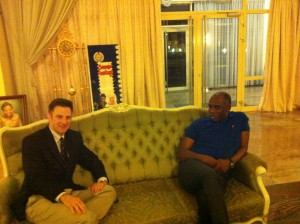 Meeting with Governor Rotimi Chibuike Amaechi at his house in Port Harcourt (April 2014)