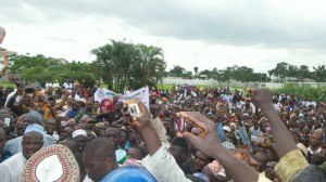 A rally in Port Harcourt, supporting the governor's announcement on the indigene/settler distinction.