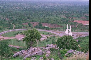A picture I took of Abuja in 2000, from atop the high hill next to the city gate. Most of these areas are now developed.